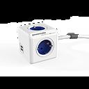 Powercube Extended 1,5m med USB Blå