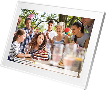 "Denver 15,6""Smart photoframe Vit"