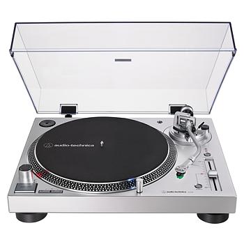 Audio-Technica Skivspelare direct-drive manuell Silver