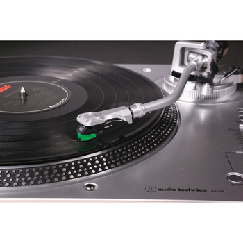 Audio-Technica Skivspelare direct-drive manuell Silver