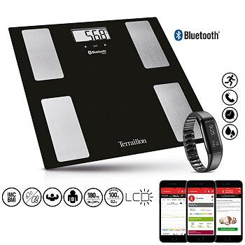 Terraillon Hälsopaket smart personvåg +aktivitetsarmband