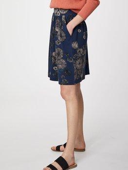 Blåmönstrad kjol i bambu från Thought