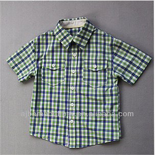Kortärmad skjorta i bambu för barn