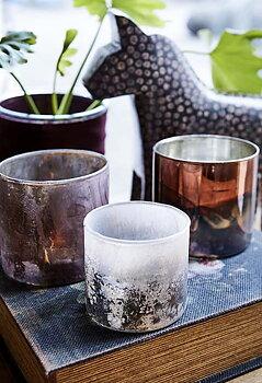 Stina Ljuslykta Vit/Brun/Silver Medium