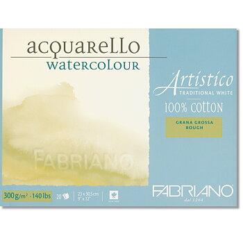 Fabriano Akvarellblock Extra White 300gr Grov gäng 30,5x45,5cm 20ark