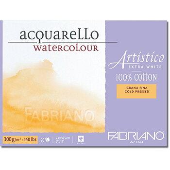 Fabriano Akvarellblock Extra White 300gr Fin gäng 23x30,5cm 20ark