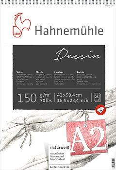 Hahnemühle Ritblock Sketch Dessin 150g spiral A4 25ark