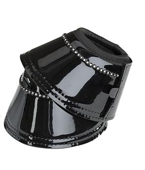 Boots i lack med strass, 2-pack, svarta.