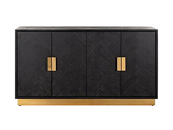 Sideboard Blackbone gold 4-doors, Richmond Interior 160 x 86cm