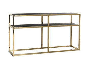 Konsolbord Blackbone/Gold Richmond 80 x 150 x 40