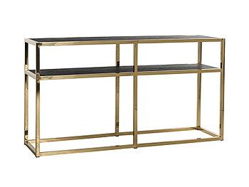 Konsolbord Blackbone/Gold Richmond 80 x 150 x 40