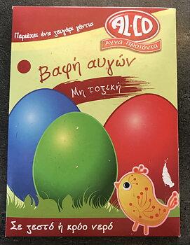 Färg till ägg röd