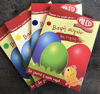 Färg till ägg, paket 4st.   Fraktfritt