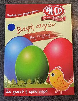 Färg till ägg blå