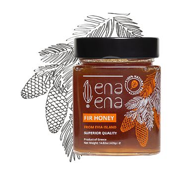 Greek Fir Honey from Evia Island 420g, ENA ENA