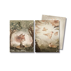Mrs Mighetto - 2-pack kort Woods & Birds