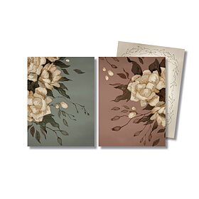 Mrs Mighetto - 2-pack kort Peonies