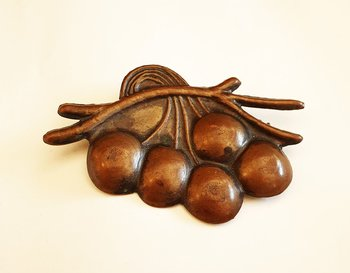 Brooch cupper cherries art nouveau