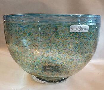 Bertil Vallien Boda Artist Collection glassbowl