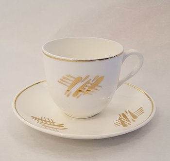 Pang gold coffecup and saucer