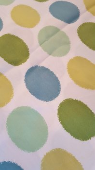Large dotted cotton fabric 1960s