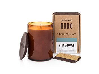 KOBO Woodblock Stoneflower Doftljus