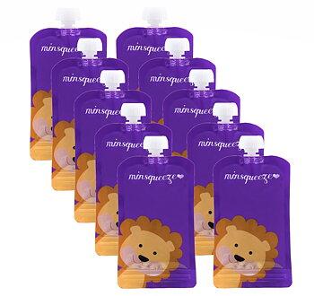 10-pack Minsqueeze Lion klämpåse