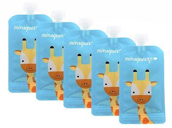 5-pack Minsqueeze Giraffe klämpåse