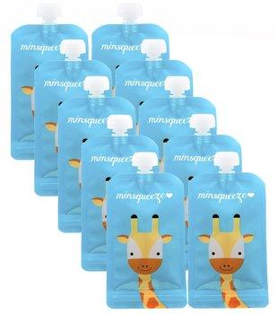 10-pack Minsqueeze Giraffe klämpåse