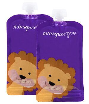 2-pack Minsqueeze Lion klämpåse
