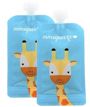 2-pack Minsqueeze Giraffe klämpåse
