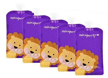 5-pack Minsqueeze Lion klämpåse