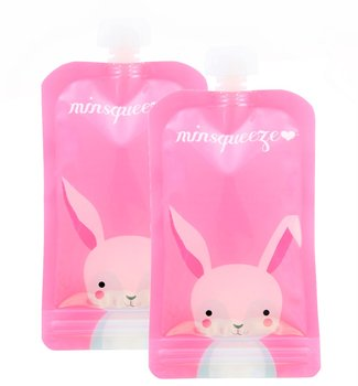 2-pack Minsqueeze Rabbit klämpåse