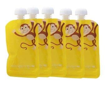 5-pack Minsqueeze Monkey klämpåse