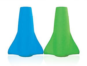 Cherub Baby Silikonpip till klämpåse - Blå&Grön