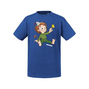 Barn t-shirt - Skogsmulle och den röda fjädern