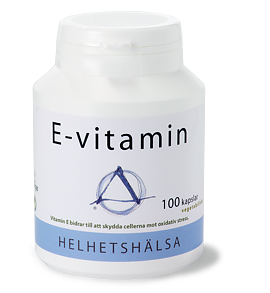 E-vitamin, 100 kapslar - Helhetshälsa
