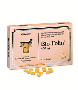 Folsyra - Bio-Folin 180 tabletter - Pharma Nord