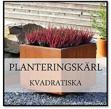 Planteringskärl kvadratiska