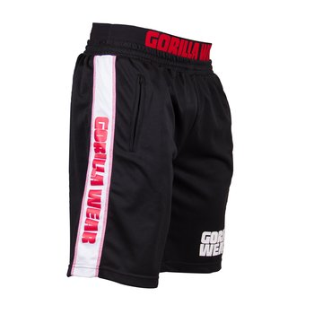 California Mesh Shorts, black/red