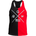 Sterling Stringer Tank Top, black/red