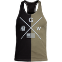 Sterling Stringer Tank Top, black/army green