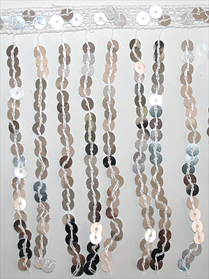 PALJETTFRANS - silver/metallic 15 cm