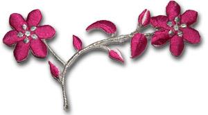 Blomma - rosa/silver