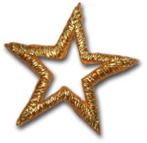 """Star """"open"""" - guld"""