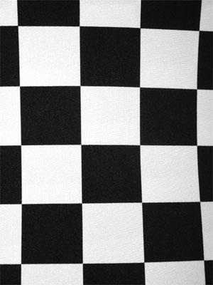 CHECKERS BIG svart/vit
