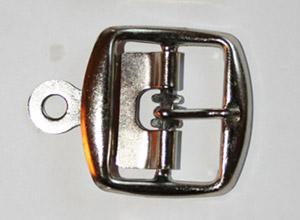 METALLSPÄNNE silver 3 cm
