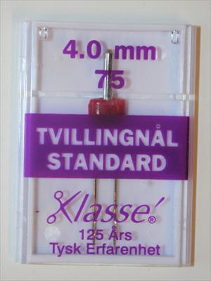 TVILLINGNÅL  4,0 mm  stl. 75