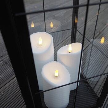 LED Blockljus Flamme Utomhus (tre storlekar) - Star Trading