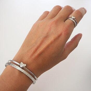 Armband Rostfritt stål HJÄRTA SILVER - Lolo Yaya